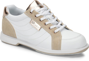 Dexter Groove IV Womens Bowling Shoes White/NuBuck/Rose Gold Wide