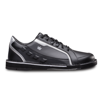 Brunswick Punisher Mens Bowling Shoes Black/Silver Right Handed