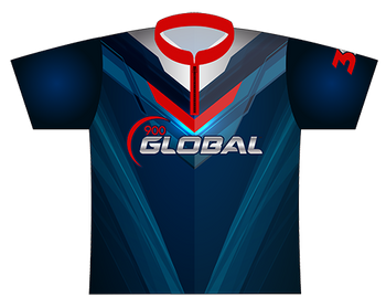 900 Global Bowling Jersey by Logo Infusion - Front Jersey