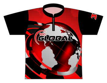 900 Global Bowling Jersey by Logo Infusion - 01369G - Front of Jersey