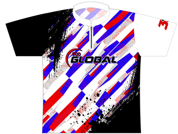 900 Global Bowling Jersey by Logo Infusion - 01559G - Front of Jersey