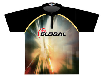 900 Global Bowling Jersey by Logo Infusion - 03009G - Front of Jersey