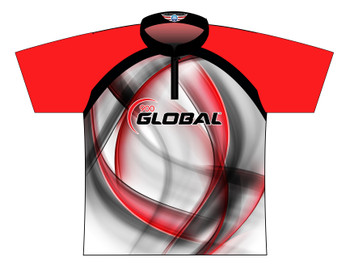 900 Global Bowling Jersey by Logo Infusion - 03049G - Front of Jersey