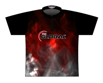 900 Global Bowling Jersey by Logo Infusion - 03059G - Front of Jersey