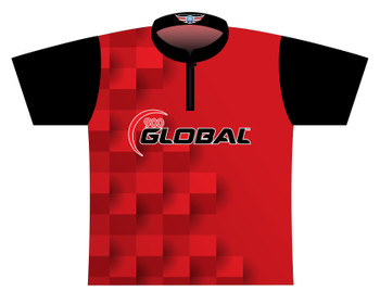 900 Global Bowling Jersey by Logo Infusion - 05179G - Front of Jersey