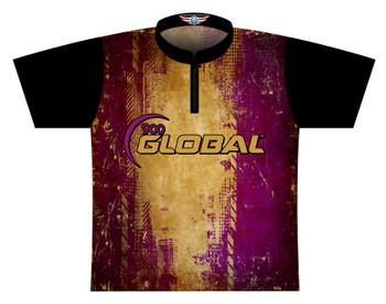 900 Global Bowling Jersey by Logo Infusion - 05189G - Front of Jersey