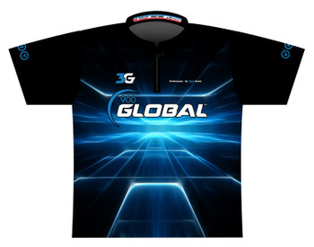 900 Global Bowling Jersey by Logo Infusion - 06479G - Front of Jersey