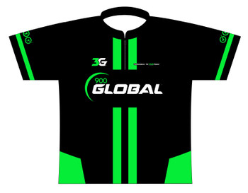 900 Global Bowling Jersey by Logo Infusion - 06489G - Front of Jersey