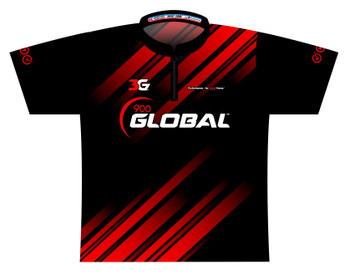 900 Global Bowling Jersey by Logo Infusion - 06499G - Front of Jersey