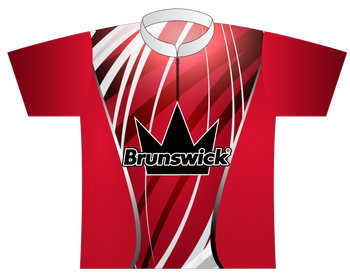 Brunswick Bowling Jersey by Logo Infusion - 0138BR - Front of Jersey