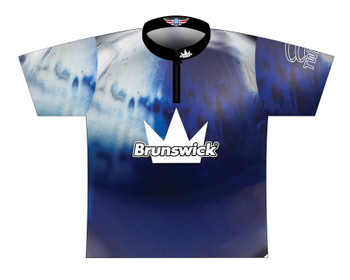 Brunswick Bowling Jersey by Logo Infusion - 0292BR - Front of Jersey