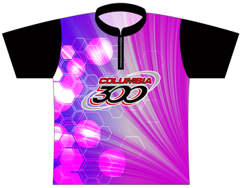 Columbia 300 Bowling Jersey by Logo Infusion - 0148CO - Front of Jersey