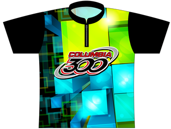 Columbia 300 Bowling Jersey by Logo Infusion - 0162CO - Front of Jersey