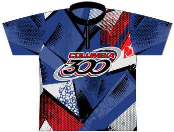Columbia 300 Bowling Jersey by Logo Infusion - 0176CO - Front of Jersey