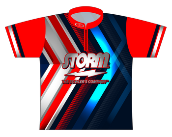 Storm Dye Sublimated Bowling Shirt - Style 0132ST - Front of Jersey with Storm Logo