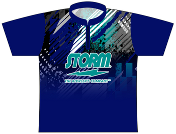 Storm Dye Sublimated Bowling Shirt - Style 0150ST - Front of Jersey with Storm Logo