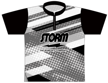 Storm Dye Sublimated Bowling Shirt - Style 0196ST - Front of Jersey with Storm Logo