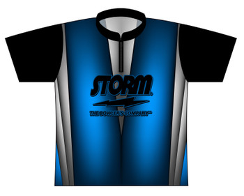 Storm Dye Sublimated Bowling Shirt - Style 0223ST - Front of Jersey with Storm Logo