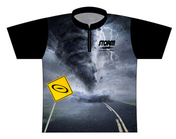 Storm Dye Sublimated Bowling Shirt - Style 0224ST - Front of Jersey with Storm Logo