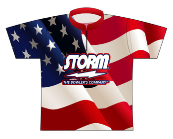 Storm Dye Sublimated Bowling Shirt - Style 0225ST - Front of Jersey with Storm Logo