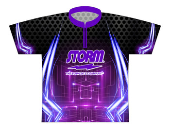 Storm Dye Sublimated Bowling Shirt - Style 0245ST - Front of Jersey with Storm Logo
