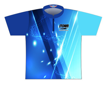 Storm Dye Sublimated Bowling Shirt - Style 0253ST - Front of Jersey with Storm Logo