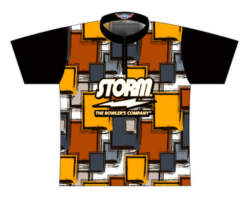 Storm Dye Sublimated Bowling Shirt - Style 0367ST - Front of Jersey
