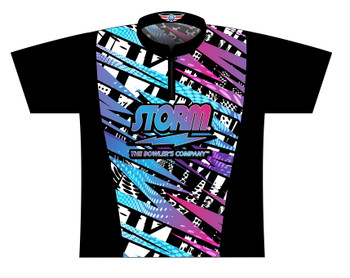 Storm Dye Sublimated Bowling Shirt - Style 0370ST - Front of Jersey