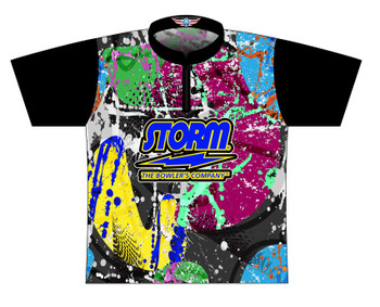 Storm Dye Sublimated Bowling Shirt - Style 0371ST - Front of Jersey