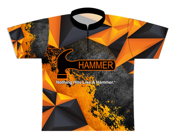 Hammer Dye Sublimated Bowling Shirt - Style 0242HM - Front of Jersey