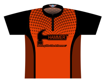 Hammer Dye Sublimated Bowling Shirt - Style 0354HM - Front of Jersey