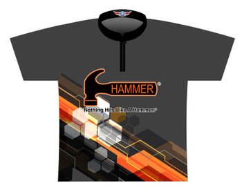 Hammer Dye Sublimated Bowling Shirt - Style 0541HM - Front of Jersey