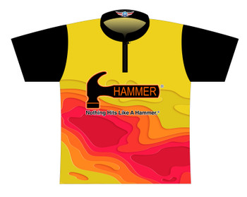 Hammer Dye Sublimated Bowling Shirt - Style 0583HM - Front of Jersey