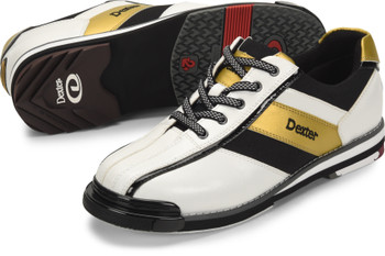 Dexter SST 8 Pro Mens Bowling Shoe White/Black/Gold