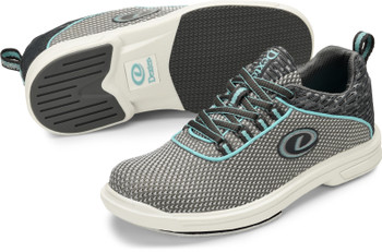 Dexter Robin Women's Bowling Shoes Grey/Robin Blue - Right Handed