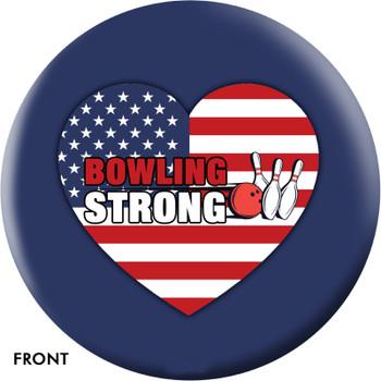 OTTB Bowling Strong US Heart Bowling Ball