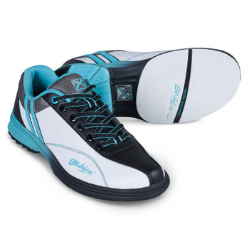KR Strikeforce Starr Womens Bowling Shoes White/Black/Teal - Left Handed