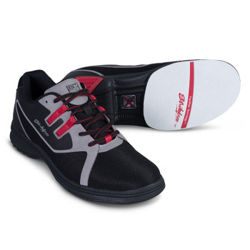 KR Strikeforce Mens Ignite Bowling Shoes Black/Grey/Red - Right Handed - Wide Width