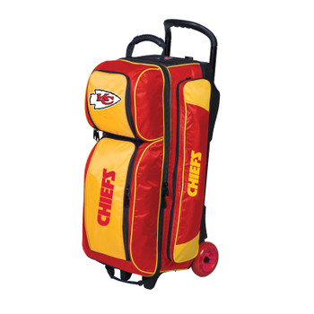 KR Strikeforce NFL Kansas City Chiefs Triple Roller Bowling Bag