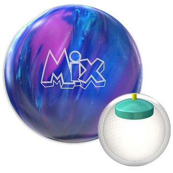 Storm Mix Bowling Ball Sky/Cobalt/Violet and Core