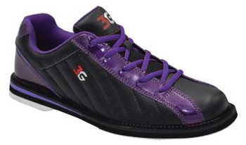 3G Kicks Womens Bowling Shoes Black/Metallic Purple