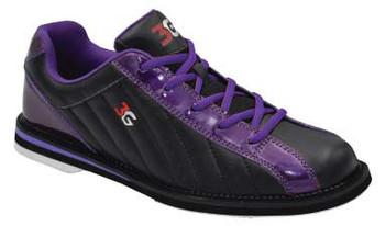 3G Kicks Womens Bowling Shoes Black/Metallic Purple