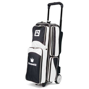 Brunswick Edge Triple Roller Bowling Bag - White