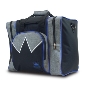 Brunswick Edge Single Tote - Grey/Royal