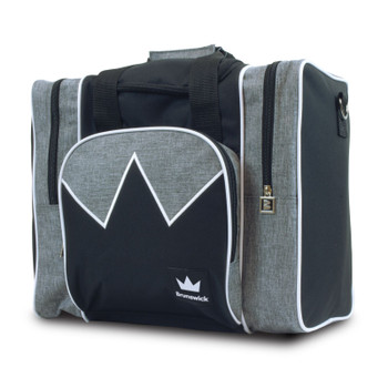 Brunswick Edge Single Tote - Grey/White