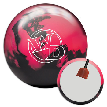 Columbia 300 White Dot Pink/Black Bowling Ball and Core