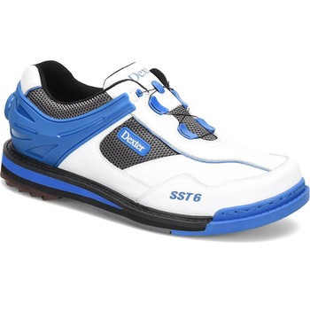 Dexter Mens SST 6 Hybrid Boa Bowling Shoes White/Blue Right Hand Wide Width