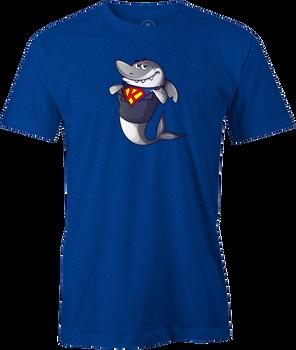 Kris Prather King Shark Cartoon Bowling Shirt - Blue - brought to you by BuddiesProShop.com