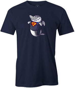 Kris Prather King Shark Cartoon Bowling Shirt - Navy - brought to you by BuddiesProShop.com