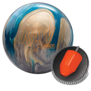 Hammer Raw Bowling Ball - Blue/Silver/White Pearl